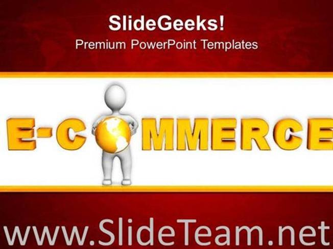 Online shopping e commerce concept powerpoint template powerpoint related powerpoint templates toneelgroepblik Images