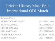 Cricket History Most Epic International Match