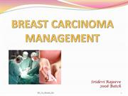 Breast Carcinoma - Management