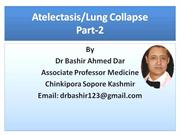 ATELECTASIS-LUNG COLLAPSE PART- 2  BY DR BASHIR SOPORE KASHMIR