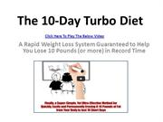 The 10-Day Turbo Diet review | Rapid weight Loss | Lose 10 Pounds
