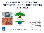 Carbon Sequestration Potentials of Agroforestry