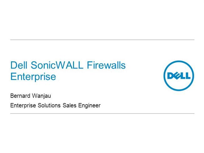 7  Dell Sonicwall Firewall Enterprise Customer Technical