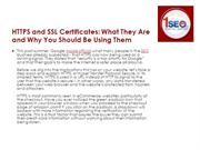 1SEO - HTTPS and SSL Certificates- What They Are and Why You Should Be