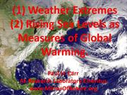Weather Extremes & Rising Sea Levels as Measures of Global Warming