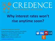 Credence Independent Advisors: Why interest rate