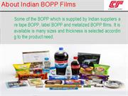 About Indian BOPP Films