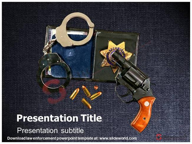 law enforcement powerpoint template slide world authorstream