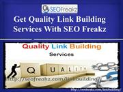 Get Quality Link Building Services With SEO Freakz