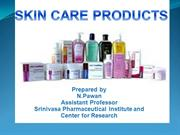 SKIN CARE PRODUCTS ppt
