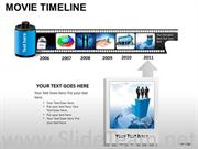 Time Line Business History Diagram