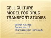 Cell culture in drug transport