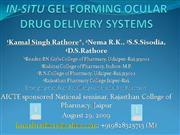 IN-SITU GEL FORMING OCULAR DRUG DELIVERY
