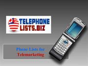 Telephone Number Lists for Telemarketing USA & Canadian Business & Res