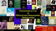 characteristic of different homoeopathic materia medica byDr.Ankit