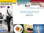 ICT Adoption among the differently abled community in Sri Lanka An emp