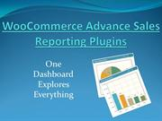 woocommerce advance sales reporting plugin