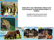 INSECURITY AND TERRORISM IMPACTS ON SUSTAINABLE TOURISM DEVELOPMENT