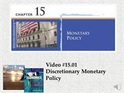 #15.01 -- Discretionary Monetary Policy (3.36)