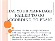 Has your marriage failed to go according to plan