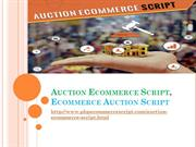 Auction Ecommerce Script, PHP auction ecommerce script