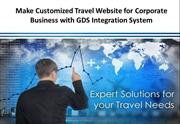 Make Customized Travel Website for Corporate Business