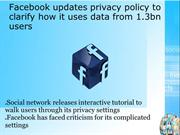 Facebook updates privacy policy to clarify how it uses data from 1.3bn