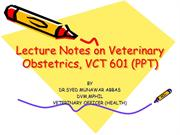 Veterinary Obsterics