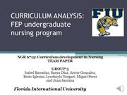 NGR 6713 FINAL Group 3: curriculum development in nursing