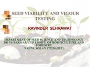 seed viablity and vigour