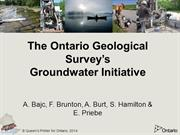 Ontario Geological Survey - National Groundwater Workshop