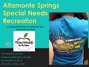 Altamonte Springs Special Needs