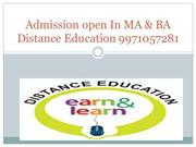 9971057281|Admission In Distance Learning In MA,BA-Economics