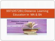 9971057281|Admission Open Distance Learning In MA,BA-Philosophy