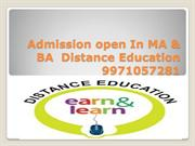 9971057281|Admission Open Distance Learning In MA,BA