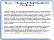 Spanish Teacher London