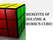 Benefits of Solving Rubik's Cube