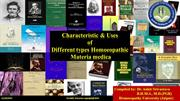 characteristic of different homoeopathic materia medica