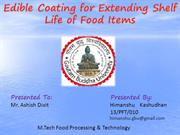 Edible Coating for Extending Shelf Life of Food Items