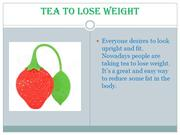Tea To Lose Weight
