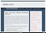 Omar Latif Does Affiliate Fraudulent Business