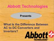 What Is the Difference Between AC to DC Converters and Inverters?