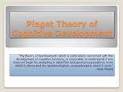 Piaget Theory of Cognitive Development PP