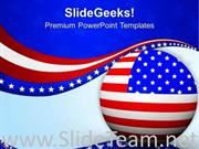 FLAG OF USA IS SYMBOL OF VICTORY AND PATRIOTISM POWERPOINT TEMPLATE