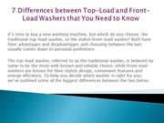 7 Differences between Top-Load and Front-Load Washers that You Need to