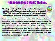 Woodstock 1969 Facts & Trivia