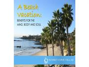 A Beach Vacation Benefits for the Mind, Body and Soul