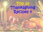 Top 10 Thanksgiving Recipes