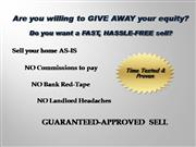 Guaranteed Approval Program/HomeSellers