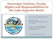 Sovereign Nations: Treaty Rights and Responsibilties